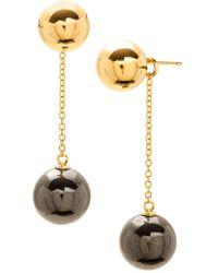 Gorjana - Newport Ball Chain Drop Earrings - Lyst