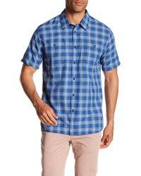 Quiksilver - Wake Plaid Short Sleeve Regular Fit Shirt - Lyst