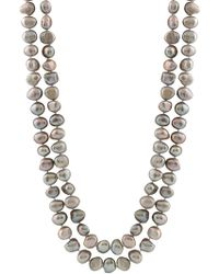 Splendid - Endless Grey 9-10mm Cultured Freshwater Pearl Necklace - Lyst