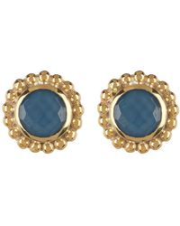 Anna Beck - 18k Gold Plated Sterling Silver Blue Quartz Stud Earrings - Lyst
