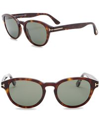 42f56c0b8ea3 Tom Ford - Von Bulow Polarized 52mm Oval Sunglasses - Lyst