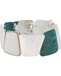 Robert Lee Morris - White & Green Geometric Patina Bracelet - Lyst