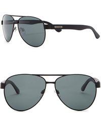 Steve Madden - 61mm Aviator Polarized Metal Frame Sunglasses - Lyst