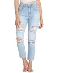 Billabong   Ripped High Waist Crop Jeans   Lyst