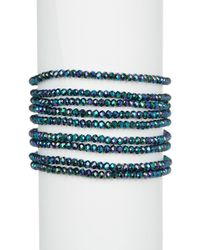 Panacea - Crystal Linked 9 Row Stretch Bracelet - Lyst