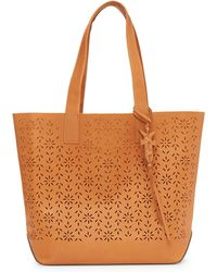 Frye - Carson Perforated Logo Leather Tote - Lyst