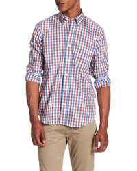 Tailor Vintage - Tri-color Gingham Print Performance Stretch Shirt - Lyst