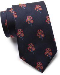Thomas Pink Tofte Flower Silk Tie - Blue