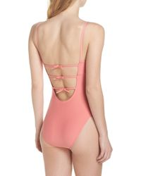 J.Crew - Maggie Baby Bow Back One-piece Swimsuit - Lyst