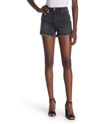 Joe's Jeans - High Waisted Denim Frayed Shorts - Lyst
