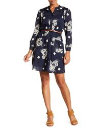 Eci - Embroidered Voile Shirt Dress - Lyst