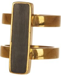 Soko - Horn Bar Double Band Ring - Lyst