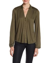 Lucky Brand - Textured Button Shirt - Lyst