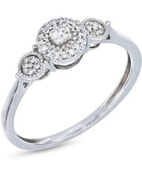 Bony Levy - 18k White Gold Prong Set Diamond Flower Ring - 0.10 Ctw - Lyst