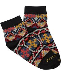 Pendleton - Geo Tapestry Print Low Crew Socks - Lyst