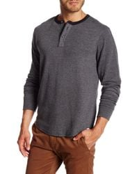 Lucky Brand - Long Sleeve Double Knit Ringer Henley - Lyst