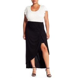 Bobeau - Hi-lo Twist Front Skirt (plus Size) - Lyst