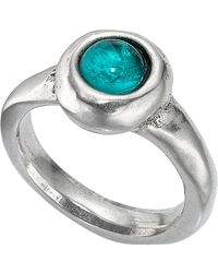 Uno De 50 - Silver Plated Murano Crystal Ego Ring - Lyst