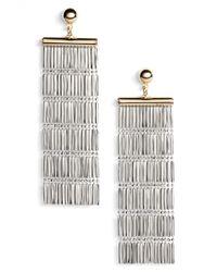 Argento Vivo - Two-tone Linear Fringe Earrings - Lyst