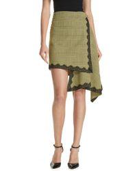 Robert Rodriguez - Lace Trim Plaid Skirt - Lyst