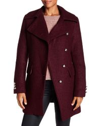 Laundry by Shelli Segal - Double Breasted Boucle Coat - Lyst