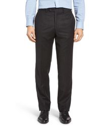 JB Britches - Flat Front Solid Wool & Cashmere Trousers - Lyst