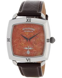 Peyote Bird Women's Sterling Plated Leather Strap Watch, 38mm - Multicolour