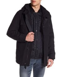 Cole Haan - 3-in-1 Faux Fur Lined Military Oxford Utility Jacket - Lyst