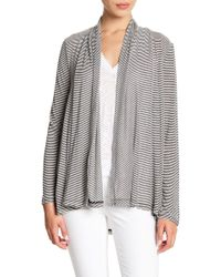 Gibson - Ribbed Open Cardigan (petite) - Lyst