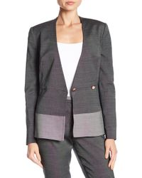 2406ea50c Lyst - Ted Baker Fearnie Architectural Peplum Jacket in Black