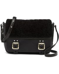 Vince Camuto - Delos Genuine Shearling & Leather Crossbody Bag - Lyst
