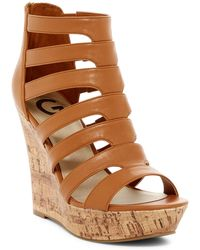 G by Guess - Darien Platform Wedge Sandal - Lyst
