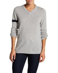 FREE CITY - Hum Colorblock Cashmere V-neck Sweater - Lyst