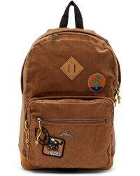 Steve Madden - Patched Corduroy Backpack - Lyst