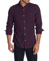 Original Penguin - Gingham Long Sleeve Heritage Slim Fit Shirt - Lyst