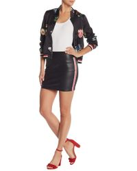Do+Be Collection - Faux Leather Stripe Skirt - Lyst