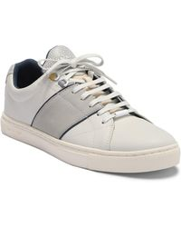 e695d302f9795 Lyst - Ted Baker Theeyo Leather Sneaker in White for Men
