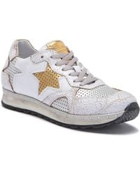 Khrio - Crackle Leather Star Sneaker - Lyst