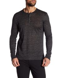 Tocco Toscano - Long Sleeve Linen Henley - Lyst