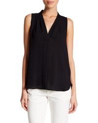 Vince Camuto - Pleated V-neck Hi-lo Tank (petite) - Lyst