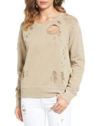 Sincerely Jules - Destroyed Cotton Sweatshirt - Lyst