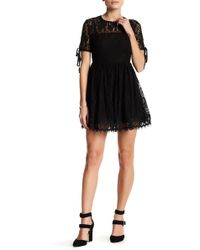 Romeo and Juliet Couture - Lace Short Sleeve Dress - Lyst