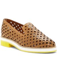 Aquatalia - Zanna Perforated Leather Loafer - Lyst