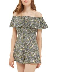 TOPSHOP - Limited Edition Liberty Floral Off The Shoulder Top - Lyst
