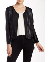 Insight | Faux Leather Fringe Jacket | Lyst