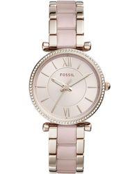 Fossil - Women's Carlie Bracelet Watch, 35mm - Lyst