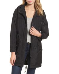 Steve Madden - Hooded Water Repellent Anorak - Lyst