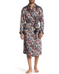 Robert Graham - Mach Floral & Houndstooth Print Silk Robe - Lyst