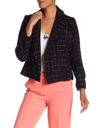 Vince Camuto - Spring Frayed Trim Tweed Jacket - Lyst