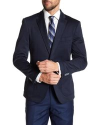 English Laundry - Navy Two Button Notch Lapel Knit Suit Separates Jacket - Lyst